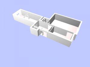 Plan 3D d'une maison